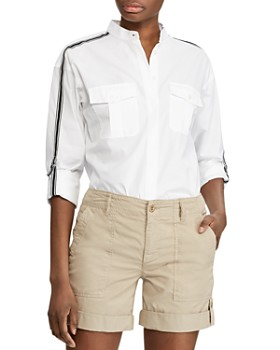 Ralph Lauren - Grosgrain-Trimmed Button-Down Shirt