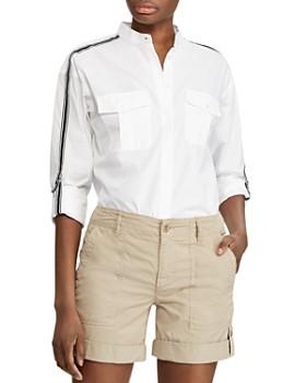 eeba09a3b4611 Ralph Lauren - Grosgrain-Trimmed Button-Down Shirt ...