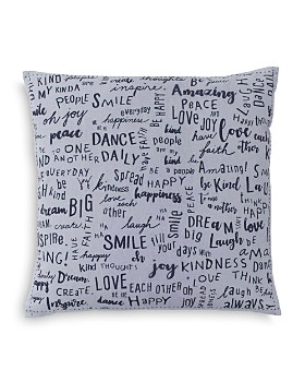 "ED Ellen Degeneres - Vicente Words Decorative Pillow, 18"" x 18"""