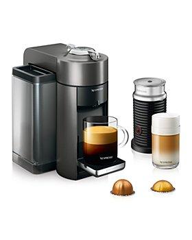 Nespresso - Vertuo by De'Longhi with Aeroccino Milk Frother, Titan