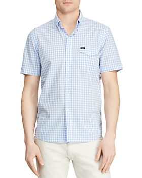Polo Ralph Lauren - Short-Sleeve Gingham Slim Fit Button-Down Shirt