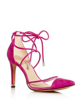 de0fd7b29 Kenneth Cole - Women s Riley Ankle-Tie Cap-Toe Pumps ...