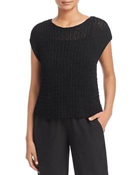 Eileen Fisher - Cap-Sleeve Sweater