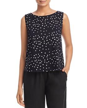 Eileen Fisher - Organic Cotton Dot-Print Top