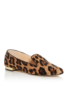 Charlotte Olympia - Women's Leopard-Print Fur Smoking Slippers