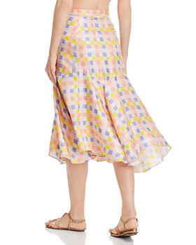 Paper London - Foxglove Printed Silk Skirt
