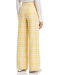 Tory Burch - Plaid Wide-Leg Pants