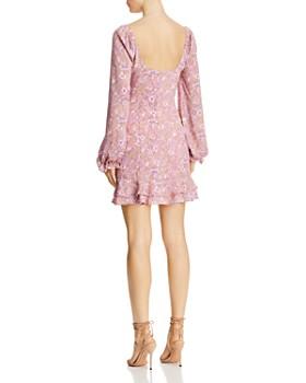 LIKELY - Lyssa Ruffled Floral-Print Mini Dress