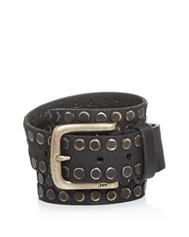 John Varvatos Star USA - Men's Studded Leather Belt, 38mm