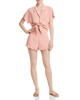 Sage the Label - Sage the Label Tie-Front Top & Mini Shorts