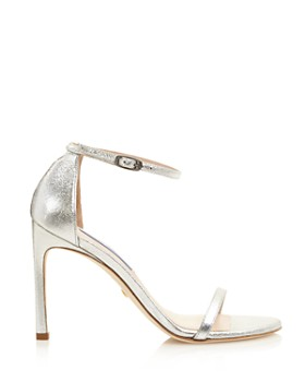 Stuart Weitzman - Women's Nudist Metallic Leather High-Heel Sandals