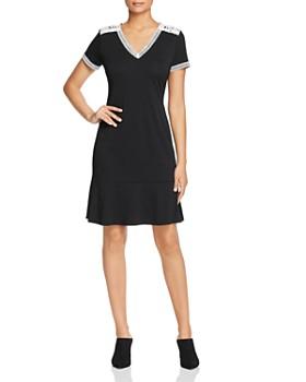 KARL LAGERFELD Paris - Lace-Trim Flounce Dress