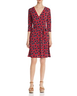 Leota - Printed Faux-Wrap Dress