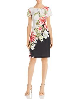 Adrianna Papell - Printed Scuba Dress