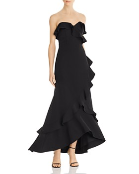 Aidan by Aidan Mattox - Strapless Ruffled Gown