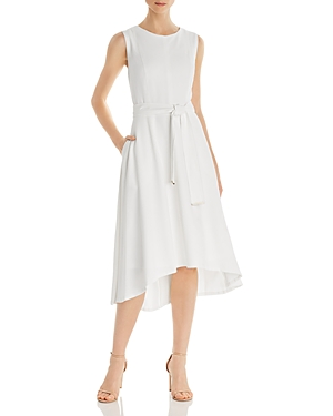 Donna Karan Belted High/Low Dress