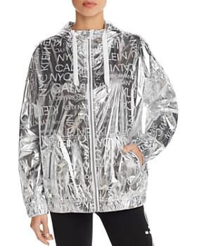 430fee048f924 Calvin Klein - Metallic Logo Print Ripstop Jacket ...