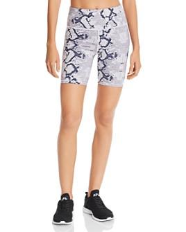 Varley - Louise Snake Print Bike Shorts