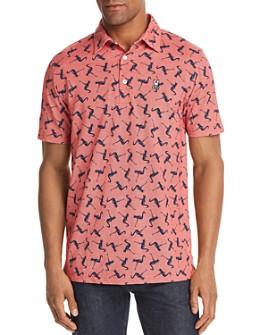 Psycho Bunny - Kennick Flamingo-Print Regular Fit Polo Shirt