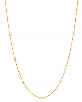Bloomingdale's - Bezel Set Diamond Station Long Necklace in 14K Gold - 100% Exclusive
