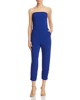 15074c4cb972 AQUA - Strapless Ruched Jumpsuit - 100% Exclusive ...