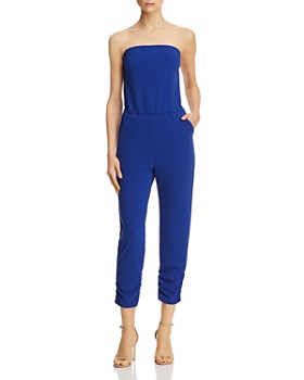 95378a7740a6 AQUA - Strapless Ruched Jumpsuit - 100% Exclusive ...