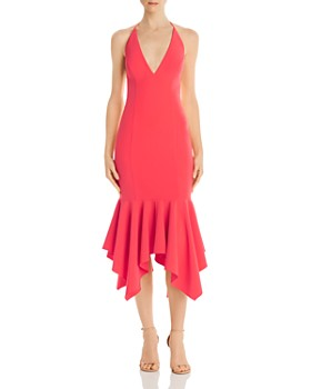 Aidan by Aidan Mattox - Crepe Halter Dress