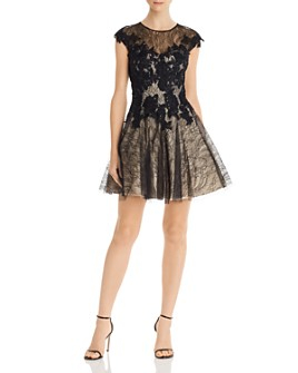 Basix - Sequined Lace Party Dress