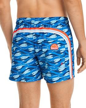 SUNDEK - Ocean Whale-Print Swim Shorts