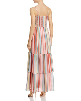 Jack by BB DAKOTA - Rainbow-Stripe Smocked Maxi Dress