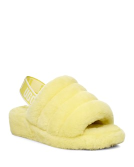 UGG® - Women's Fluff Yeah Open Toe Fur Slide Slippers