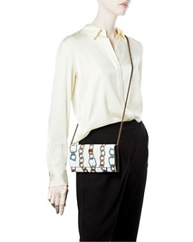 Salvatore Ferragamo - Gancini City Mini Chainlink Leather Crossbody