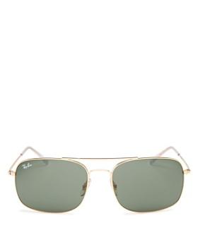 Ray-Ban - Men's Brow Bar Aviator Sunglasses, 60mm
