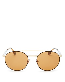 Burberry - Men's Brow Bar Round Sunglasses, 53mm