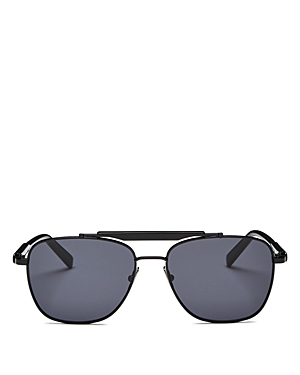 Salvatore Ferragamo Men's Brow Bar Aviator Sunglasses, 56mm