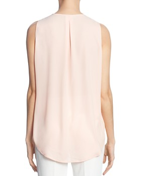 T Tahari - Sleeveless Ruffled V-Neck Top