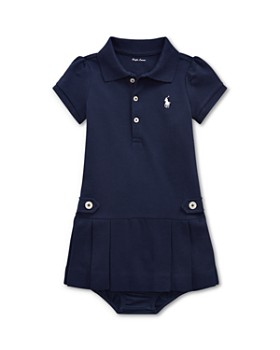 Ralph Lauren - Girls' Pleated Polo Dress & Bloomers Set - Baby