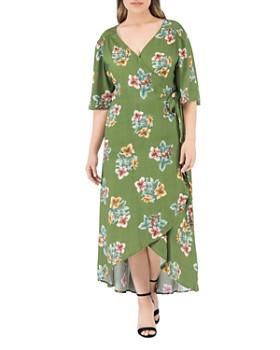 3b363a5e107 B Collection by Bobeau Curvy - Curvy Orna Floral-Print Wrap Dress ...