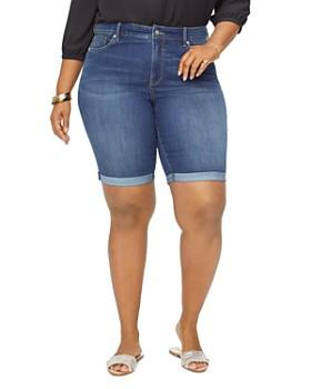 NYDJ Plus - Briella Cuffed Denim Shorts in Junipero