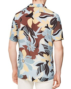 REISS - Zeek Art Deco Floral Regular Fit Shirt