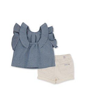 7 For All Mankind -  Girls' Shirt & Shorts Set - Little Kid