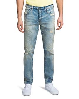 PRPS - La Sabre Detroit Shredded Slim Fit Jeans in Light Blue