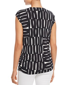 Kenneth Cole - Printed Side-Ruched Tee