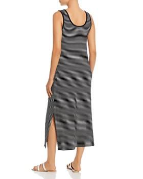 Calvin Klein - Sleeveless Striped Maxi Dress