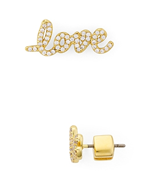 kate spade new york Pave Love Earrings
