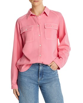 SJYP - Denim Snap Shirt