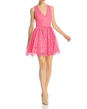 Alice and Olivia - Iris Lace Fit-and-Flare Dress