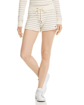 n:philanthropy - Rum Distressed Striped Shorts