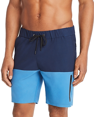 Onia Theo Bonded Color-Block Swim Trunks