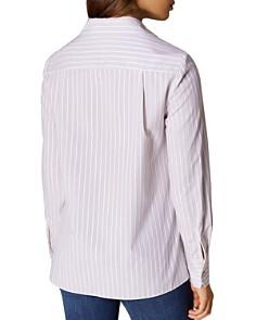 KAREN MILLEN - Lotus Embroidered Tie-Front Shirt